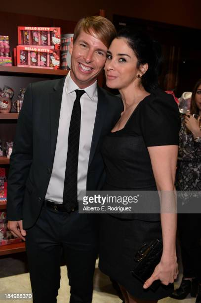 Actors Jack McBrayer and Sarah Silverman attend Walt Disney Animation Studios' WreckIt Ralph premiere after party at Sweet Hollywood on October 29...