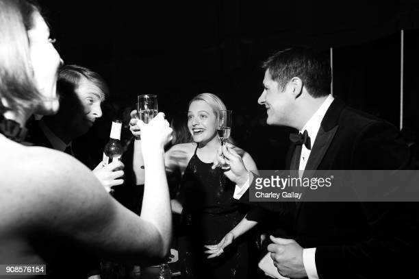 Actors Jack McBrayer Elisabeth Moss and _____ attend People and EIF's Annual Screen Actors Guild Awards Gala sponsored by TNT and L'Oreal Paris at...