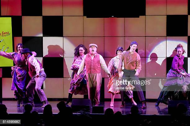 Actors Jack McGee and Tyler Ritter perform onstage during the 24th and final A Night at Sardi's to benefit the Alzheimer's Association at The Beverly...