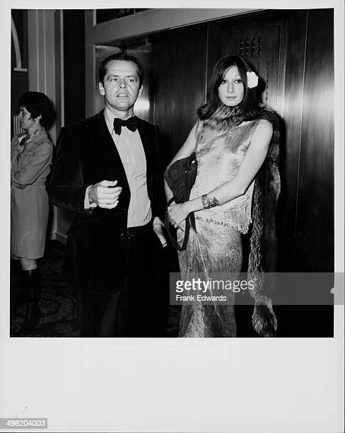Actors Jack Nicholson and Anjelica Huston attending the Golden Globe Awards at the Beverly Hills Hilton Los Angeles January 26th 1974