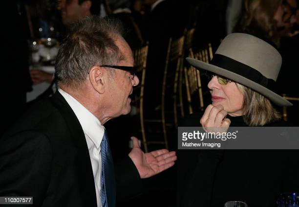 Actors Jack Nicholson and Diane Keaton attend the Los Angeles Philharmonic Gala at the Walt Disney Concert Hall on October 4 2007 in Los Angeles...
