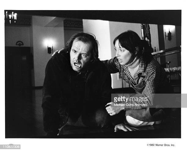 Actors Jack Nicholson and Shelley Duvall in a scene from the Warner Bros movie 'The Shining' in 1980 at Elstree Studios in Borehamwood Hertfordshire...