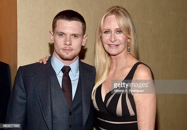 Actors Jack O'Connell and Cynthia Garris attends the premiere of Universal Studios' Unbroken at TCL Chinese Theatre on December 15 2014 in Hollywood...