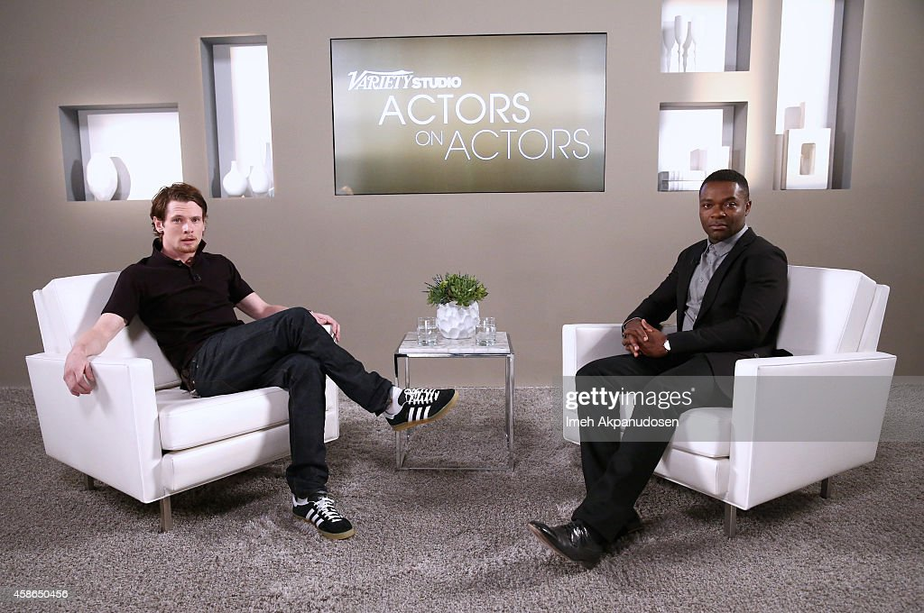 Actors Jack O'Connell (L) and David Oyelowo attend day one of Variety Studio: Actors On Actors presented by Samsung Galaxy on November 8, 2014 in Los Angeles, California.
