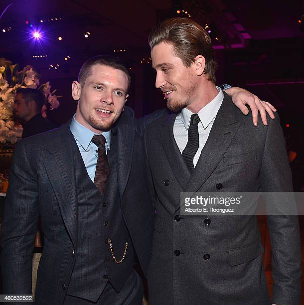 Actors Jack O'Connell and Garrett Hedlund attend the after party for the premiere of Universal Studios' Unbroken at on December 15 2014 in Hollywood...