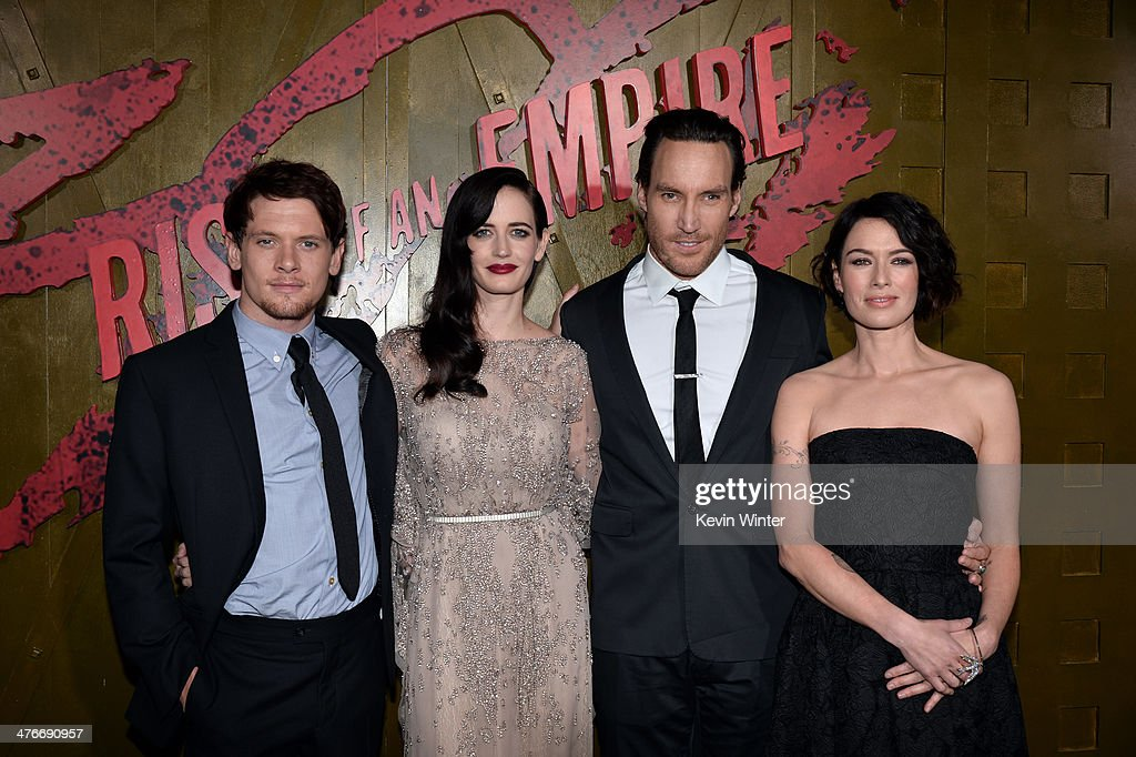 Actors Jack O'Connell, Eva Green, Callan Mulvey and Lena Headey attend the premiere of Warner Bros. Pictures and Legendary Pictures' '300: Rise Of An Empire' at TCL Chinese Theatre on March 4, 2014 in Hollywood, California.
