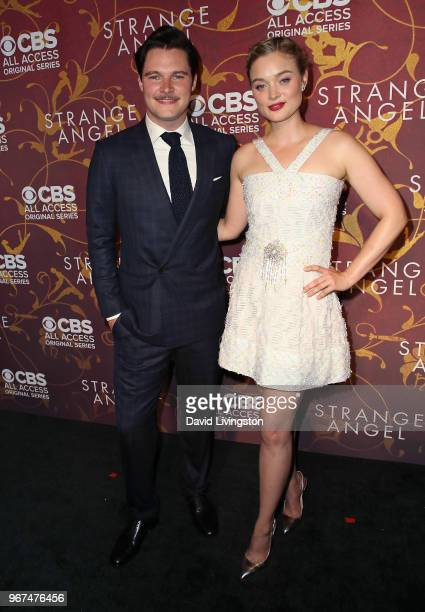 Actors Jack Reynor and Bella Heathcote attend the premiere of CBS All Access' Strange Angel at Avalon on June 4 2018 in Hollywood California