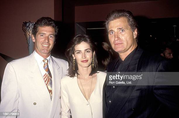 Actors Jack Scalia Kim Delaney and Joseph Cortese attend the Party to Celebrate Jackie Collins' New Book 'American Star' on April 15 1993 at Spago in...