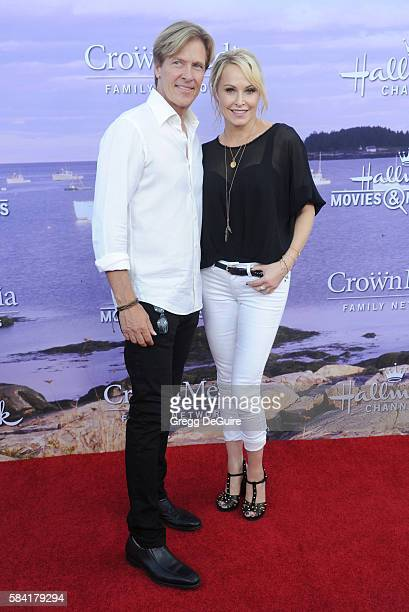 Actors Jack Wagner and Josie Bissett arrive at the Hallmark Channel and Hallmark Movies and Mysteries Summer 2016 TCA Press Tour Event on July 27...