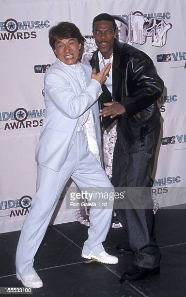 Actors Jackie Chan and Chris Tucker attend 15th Annual MTV Video Music Awards on September 10 1998 at Universal Studios in Universal City California