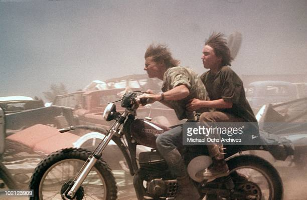Actors Jackie Earle Haley and JanMichael Vincent in a scene from the movie 'Damnation Alley' in 1977