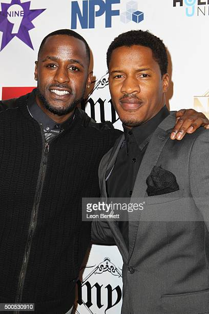 Actors Jackie Long and Nate Parker attended the Hill Harper And Nate Parker Present 8th Annual Manifest Your Destiny Toy Drive And Fundraiser at...