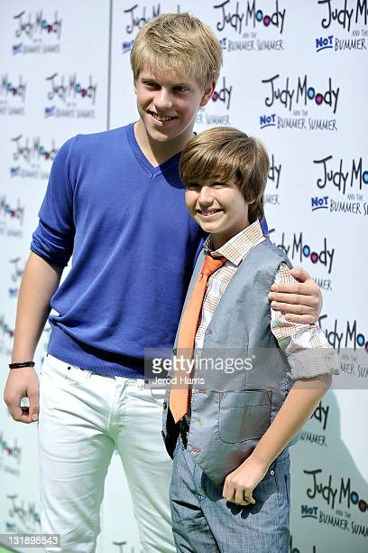 Actors Jackson Odell and Garrett Ryan arrive at the Judy Moody And The NOT Bummer Summer Los Angeles Premiere at ArcLight Hollywood on June 4 2011 in...