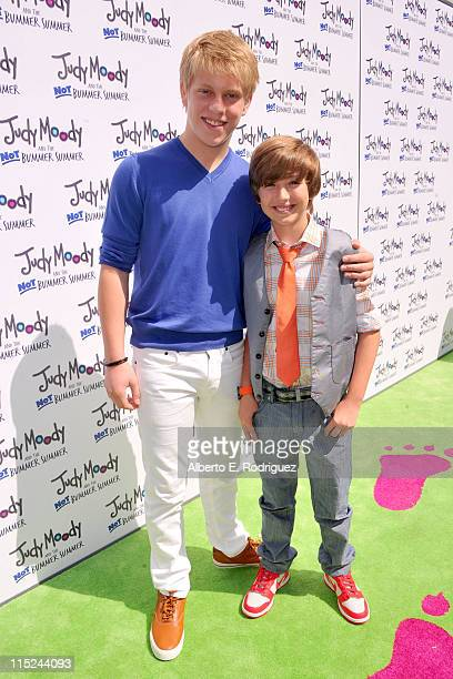 Actors Jackson Odell and Garrett Ryan arrives at the premiere of Relativity Media's Judy Moody And The NOT Bummer Summer held at ArcLight Hollywood...
