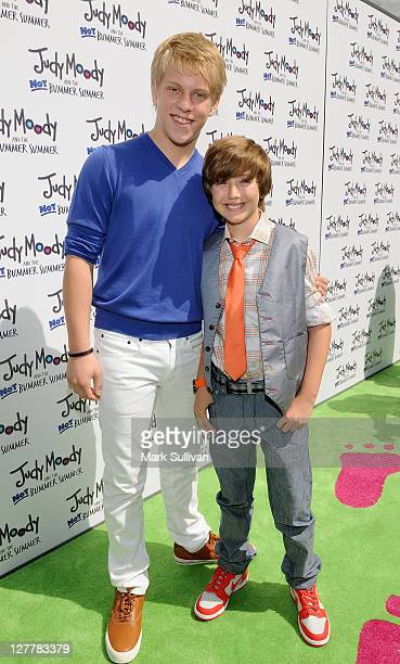 Actors Jackson Odell and Garrett Ryan attend the Los Angeles premiere of Judy Moody And The Not Bummer Summer at ArcLight Hollywood on June 4 2011 in...