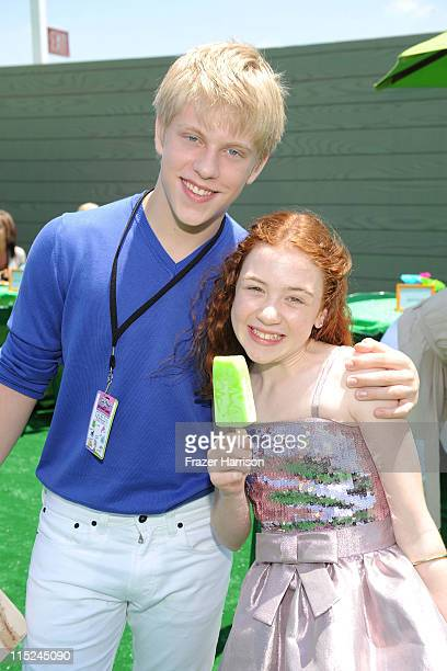 Actors Jackson Odell and Jordana Beatty attend the after party for the premiere of Relativity Media's Judy Moody And The NOT Bummer Summer held at...