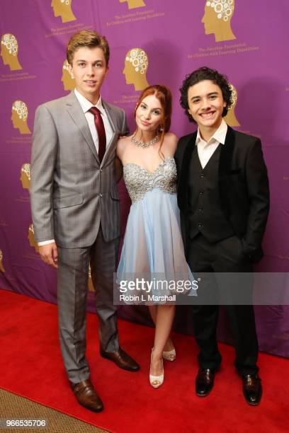 Actors Jacob Hopkins Ainsley Ross and Hunter Payton attend The Jonathan Foundation's 5th Annual Spring Fundraiser at Cathedral of Our Lady of Angels...