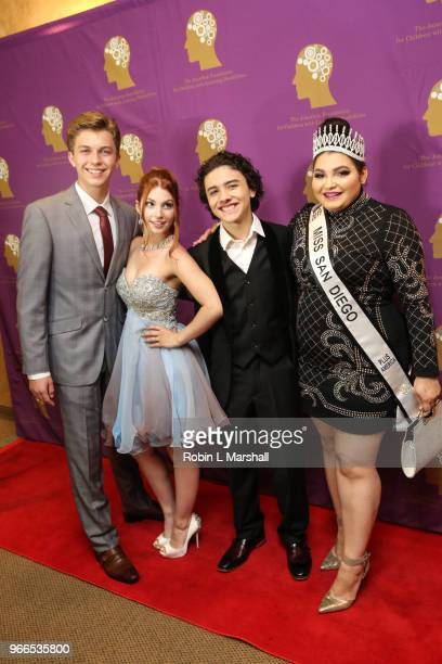 Actors Jacob Hopkins Ainsley Ross Hunter Payton and Kiana Lyz Rivera attend The Jonathan Foundation's 5th Annual Spring Fundraiser at Cathedral of...