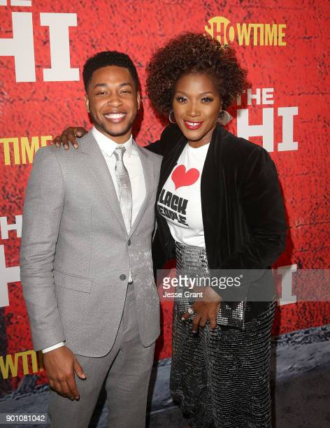 Actors Jacob Latimore and Yolonda Ross attend the premiere of Showtime's 'The Chi' at Downtown Independent on January 3 2018 in Los Angeles California