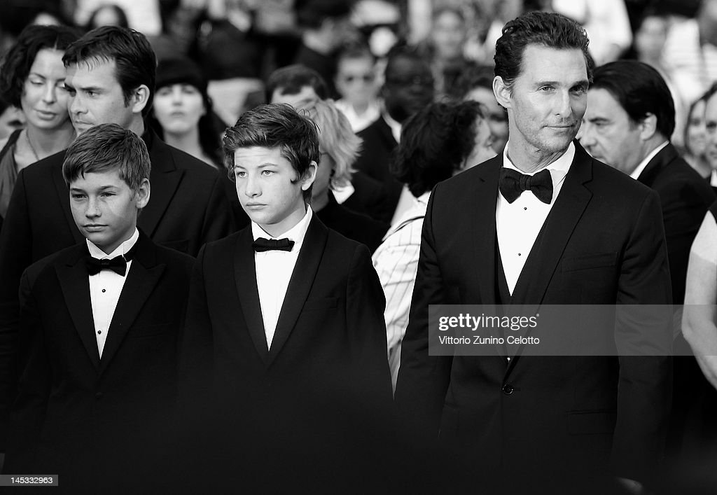 Actors Jacob Lofland, Tye Sheridan and Matthew McConaughey attend the 'Mud' Premiere during the 65th Annual Cannes Film Festival at Palais des Festivals on May 26, 2012 in Cannes, France.