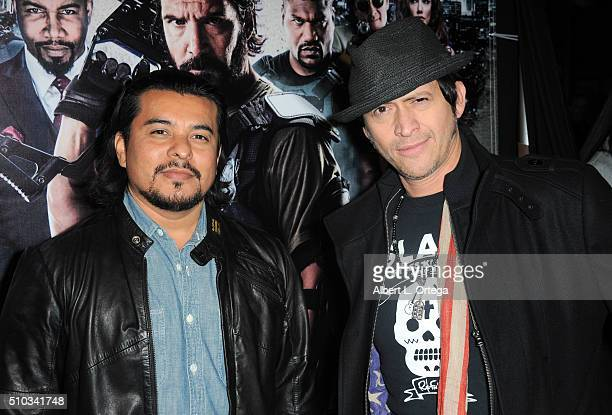 Actors Jacob Vargas and Clifton Collins Jr arrive for the Screening Of Oscar Gold Productions' 'Vigilante Diaries' held at ArcLight Hollywood on...