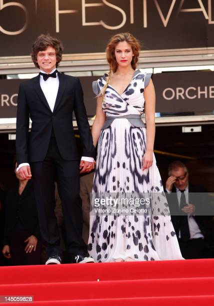 Actors Jacopo Olmo Antinori and Tea Falco attend the Io E Te Premiere during the 65th Annual Cannes Film Festival at Palais des Festivals on May 23...