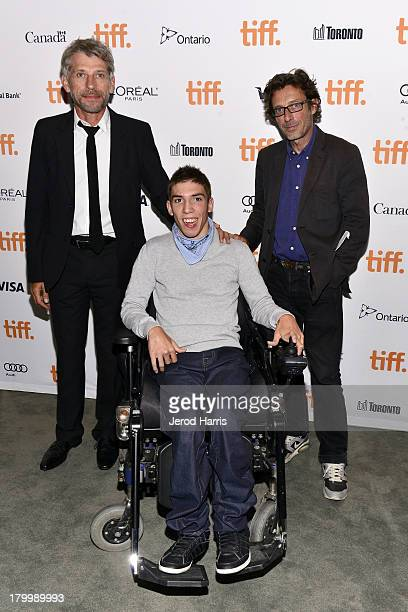 Actors Jacques Gamblin Fabien Heraud and Nils Tavernier attend The Finishers Premiere during the 2013 Toronto International Film Festivalat TIFF Bell...