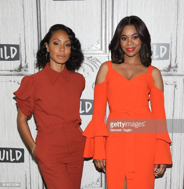 Actors Jada Pinkett Smith and Regina Hall attend Build to discuss 'Girls Trip' at Build Studio on July 17 2017 in New York City
