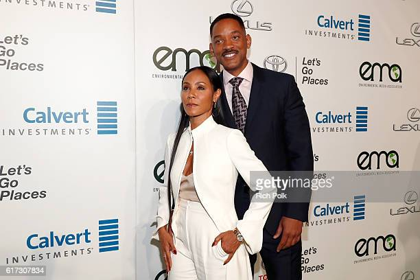 Actors Jada Pinkett Smith and Will Smith attend the Environmental Media Association 26th Annual EMA Awards Presented By Toyota Lexus And Calvert at...