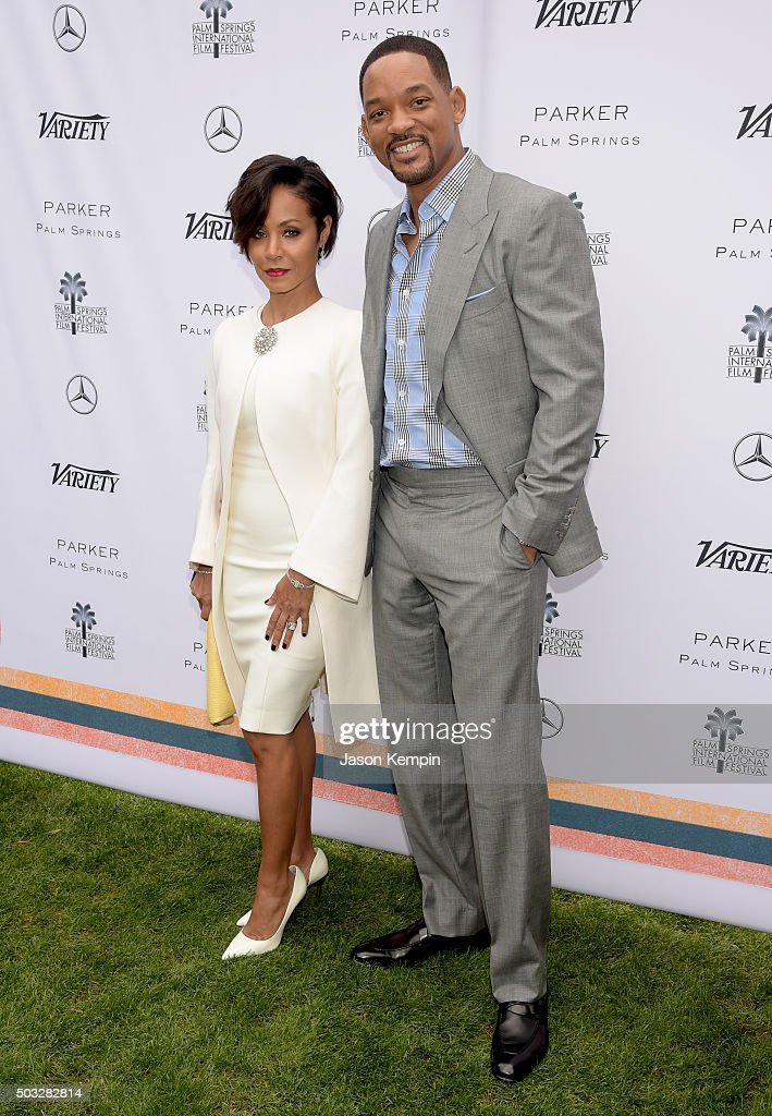 Actors Jada Pinkett Smith (L) and Will Smith attend Variety's Creative Impact Awards and 10 Directors to Watch Brunch Presented By Mercedes-Benz at The 27th Annual Palm Springs International Film Festival on January 3, 2016 in Palm Springs, California.
