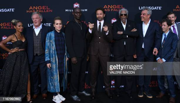 US actors Jada Pinkett Smith Nick NoltePiper Perabo Lance Reddick Scottish actor Gerard Butler US actors Morgan Freeman Danny Huston Blake Nelson and...