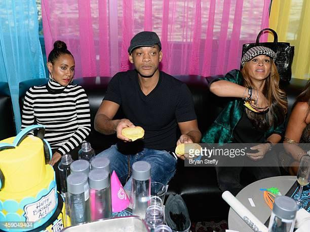 Actors Jada Pinkett Smith Will Smith and TV personality Sheree Fletcher attend DJ AcE's birthday celebration Ghostbar Dayclub at the Palms Casino...