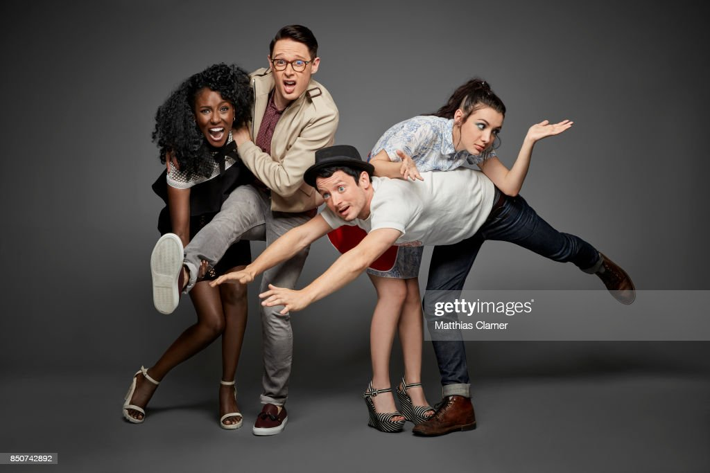 Actors Jade Eshete, Samuel Barnett, Hannah Marks and Elijah Wood from Dirk Gently's Holistic Detective Agency are photographed for Entertainment Weekly Magazine on July 22, 2017 at Comic Con in San Diego, California.