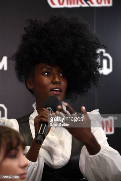 Actors Jade Eshete speaks onstage at the New York Comic Con Live Stage in partnership with FANDOM and Twitch on October 6 2017 in New York City