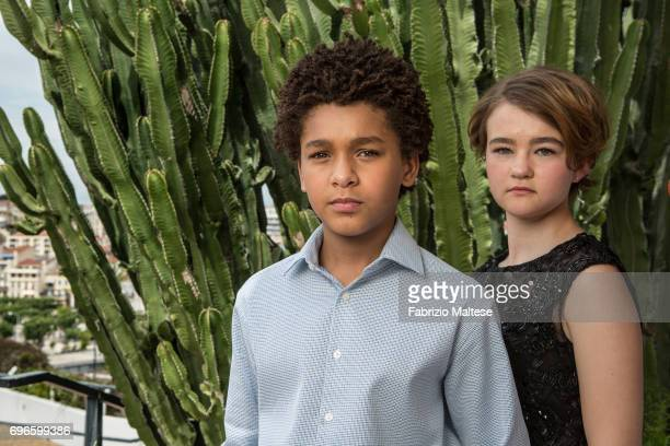 Actors Jaden Michael and Millicent Simmonds are photographed for the Hollywood Reporter on May 19 2017 in Cannes France