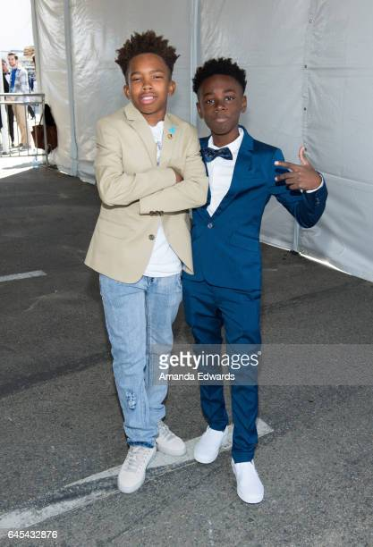 Actors Jaden Piner and Alex R Hibbert during the 2017 Film Independent Spirit Awards at the Santa Monica Pier on February 25 2017 in Santa Monica...
