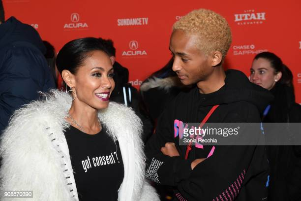 Actors Jaden Smith and Jada Pinkett Smith attend the 'Skate Kitchen' Premiere during 2018 Sundance Film Festival at Park City Library on January 21...