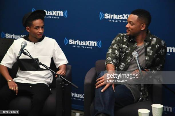 Actors Jaden Smith and Will Smith attend 'SiriusXM's Town Hall With Jaden Smith And Will Smith' and Moderator Jess Cagle On SiriusXM's Entertainment...