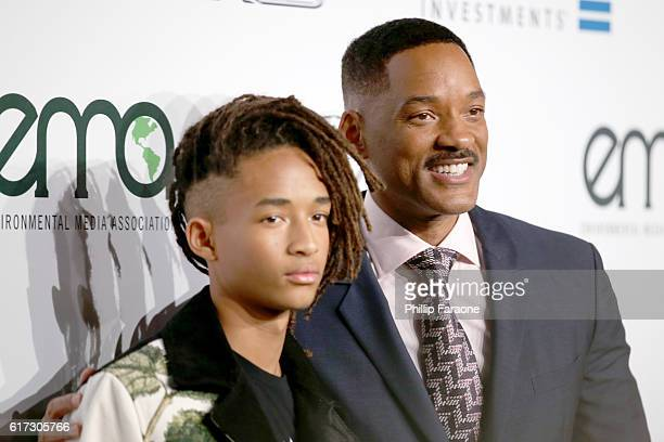 Actors Jaden Smith and Will Smith attend the Environmental Media Association 26th Annual EMA Awards Presented By Toyota, Lexus And Calvert at Warner...