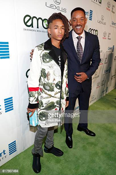 Actors Jaden Smith and Will Smith attend the Environmental Media Association 26th Annual EMA Awards Presented By Toyota Lexus And Calvert at Warner...