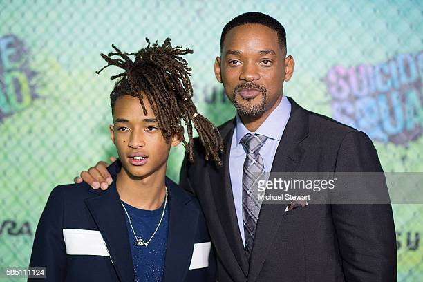 Actors Jaden Smith and Will Smith attend the 'Suicide Squad' world premiere at The Beacon Theatre on August 1 2016 in New York City