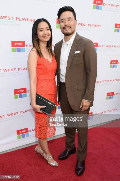 Actors Jae Suh Park and Randall Park attend the East West Players 'Radiant' 51st Anniversary Visionary Awards and silent auction at Hilton Universal...