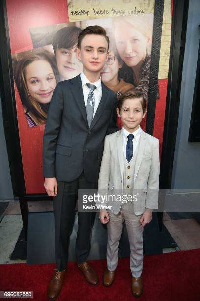 Actors Jaeden Lieberher and Jacob Tremblay attend the opening night premiere of Focus Features' 'The Book of Henry' during the 2017 Los Angeles Film...