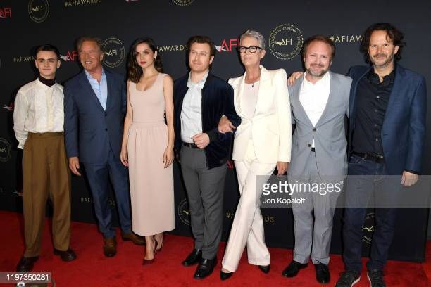 Actors Jaeden Martell, Don Johnson, Ana de Armas, Noah Segen, Jamie Lee Curtis, director Rian Johnson and producer Ram Bergman attend the 20th Annual...