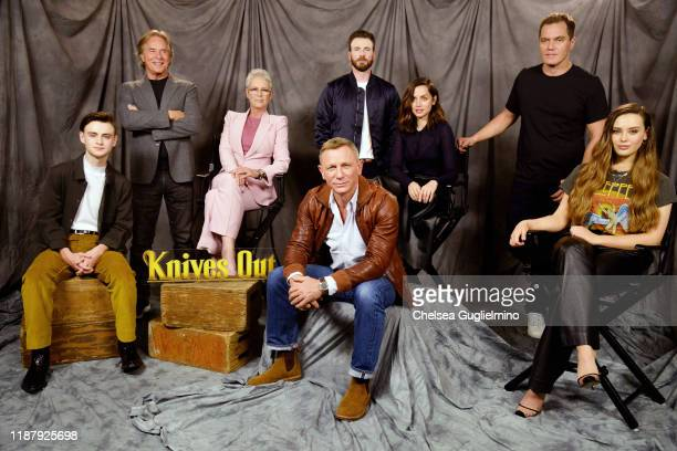 Actors Jaeden Martell, Don Johnson, Jamie Lee Curtis, Daniel Craig, Chris Evans, Ana de Armas, Michael Shannon and Katherine Langford attend the...