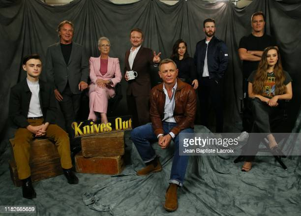 Actors Jaeden Martell, Don Johnson, Jamie Lee Curtis, Rian Johnson, Daniel Craig, Chris Evans, Ana de Armas, Michael Shannon and Katherine Langford...