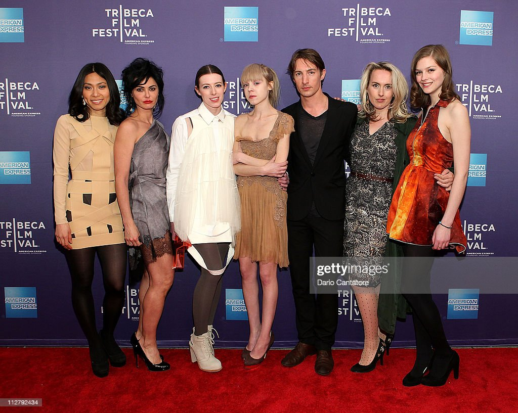 Actors Jai Choi, Katrena Rochell, Alexandra McGuinness, Antonia Campbell-Hughes, Benn Northover, Cynthia Fortune Ryan and Amber Anderson attend the premiere of 'Lotus Eaters' during the 2011 Tribeca Film Festival at SVA Theater on April 21, 2011 in New York City.
