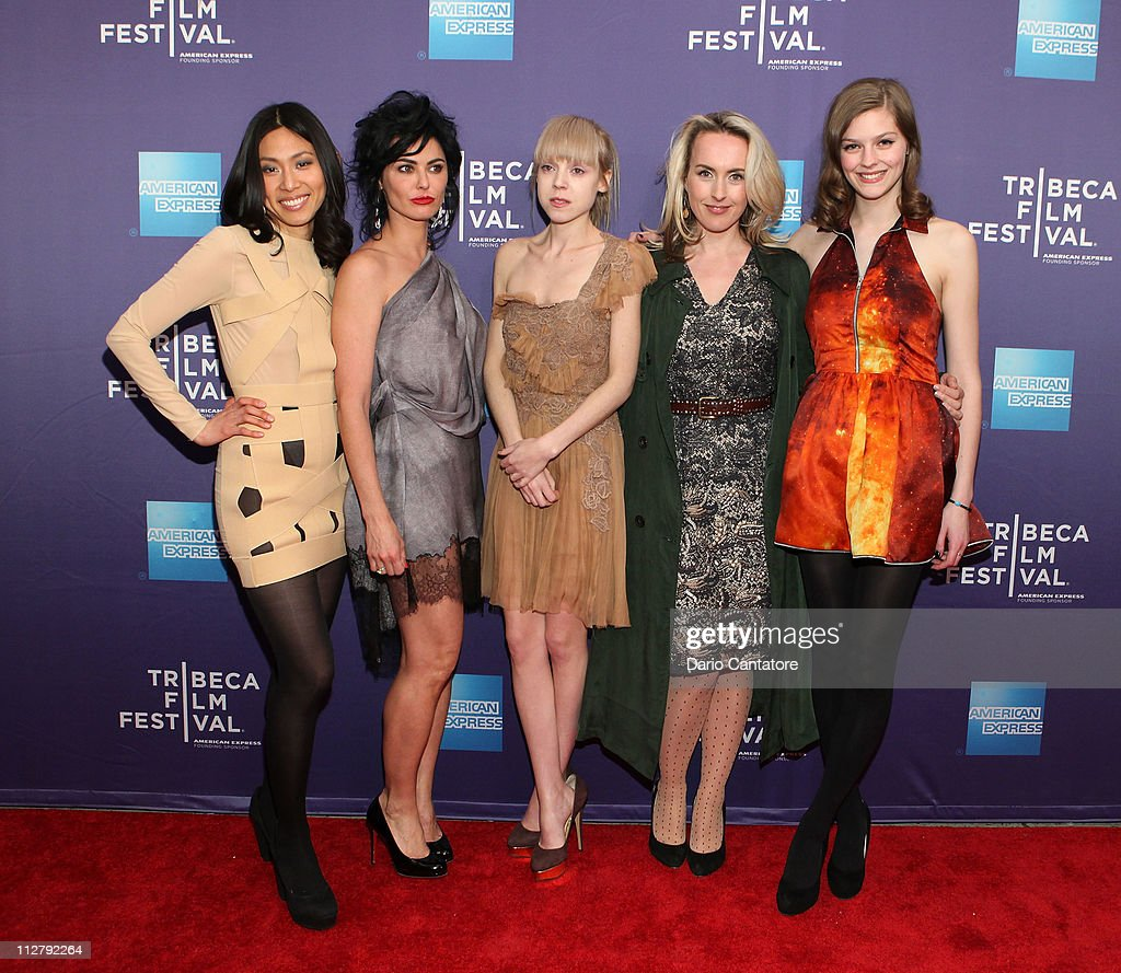 Actors Jai Choi, Katrena Rochell, Antonia Campbell-Hughes, Cynthia Fortune Ryan and Amber Anderson attend the premiere of 'Lotus Eaters' during the 2011 Tribeca Film Festival at SVA Theater on April 21, 2011 in New York City.