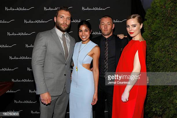 """Actors Jai Courtney, Sarah Roberts, Actor/Writer/Producer Joel Edgerton and Melissa George arrive at the """"Felony"""" Cocktail Party during the 2013..."""