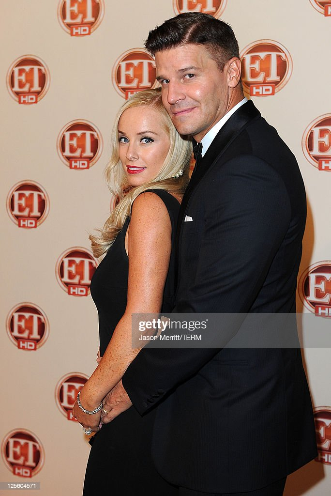 Actors Jaime Bergman and David Boreanaz attend the 15th annual Entertainment Tonight Emmy party presented by Visit California at Vibiana on September 18, 2011 in Los Angeles, California.